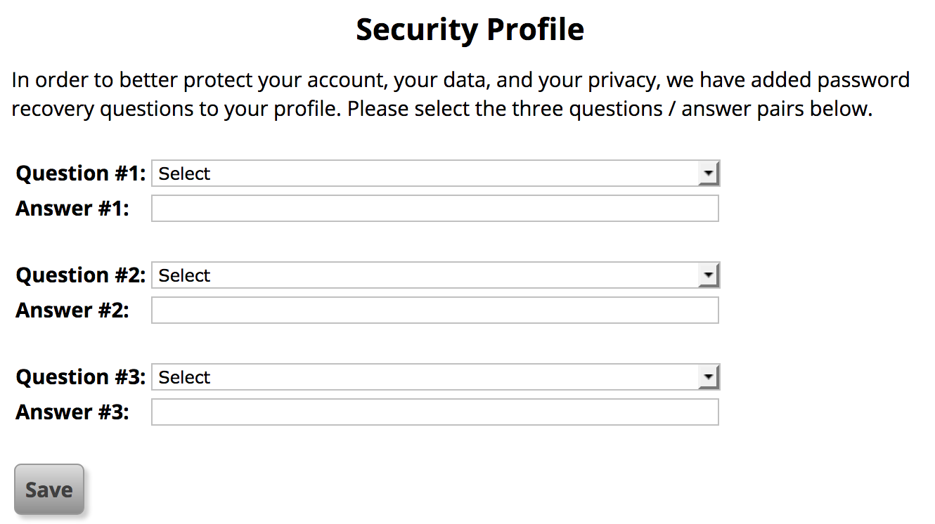 ZG Security Profile
